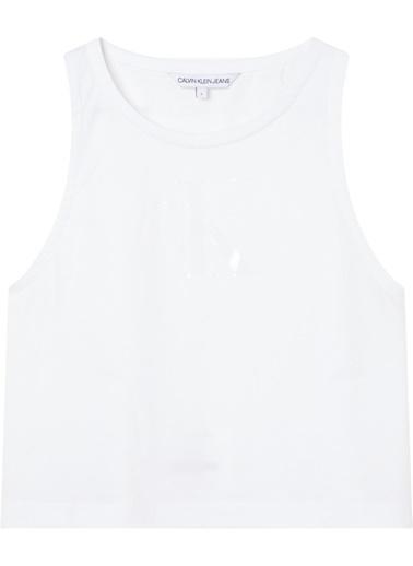 Calvin Klein J20J215622 Tonal Monogram Tank Top Beyaz
